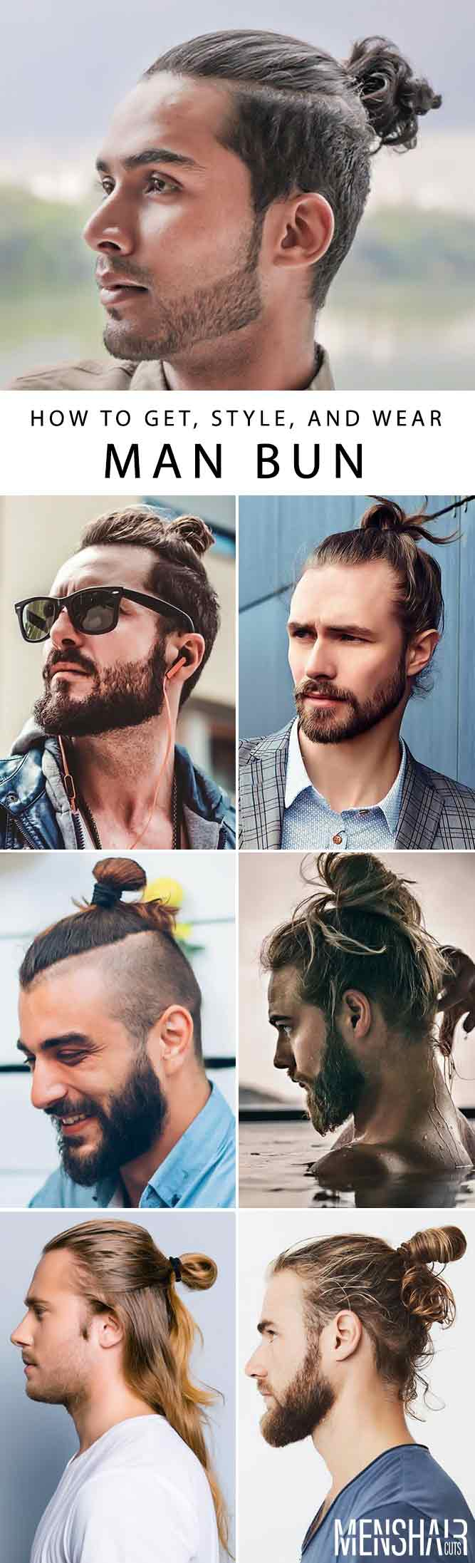 Creative Men Buns Hairstyles #manbun