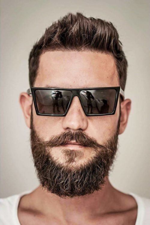 Trimmed Beard With Long Mustache #beard