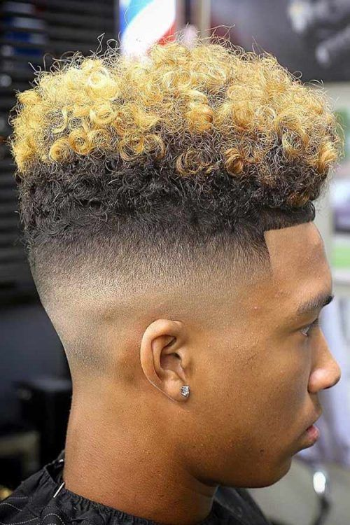 Blonde High Top Hairstyle #blackmenhairstyles #afrohair #afrohairstyles