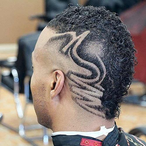 Mohawk Style With Hair Tattoo #blackmenhairstyles #afrohair #afrohairstyles