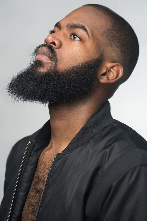 Shaved Or Faded Afro #blackmenhairstyles #afrohair #afrohairstyles