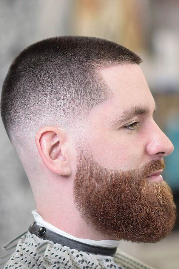 Short Buzz Faded Cut With Red Beard #buzzcut #haircuts #menhaircuts