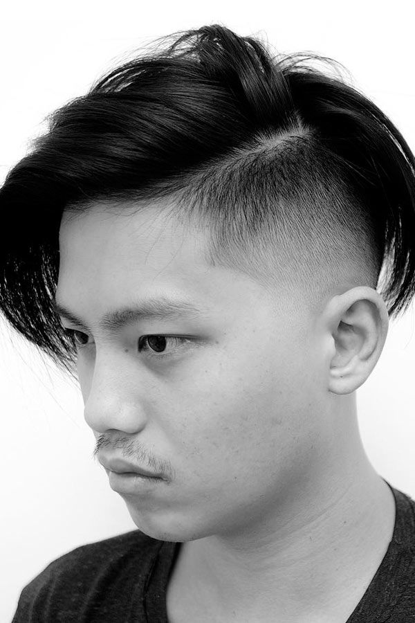 Side Part Medium Hair High Fade #fadehaircut