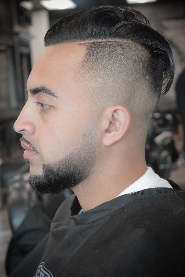 Slicked Back Disconnected Undercut High Fade #fadehaircut