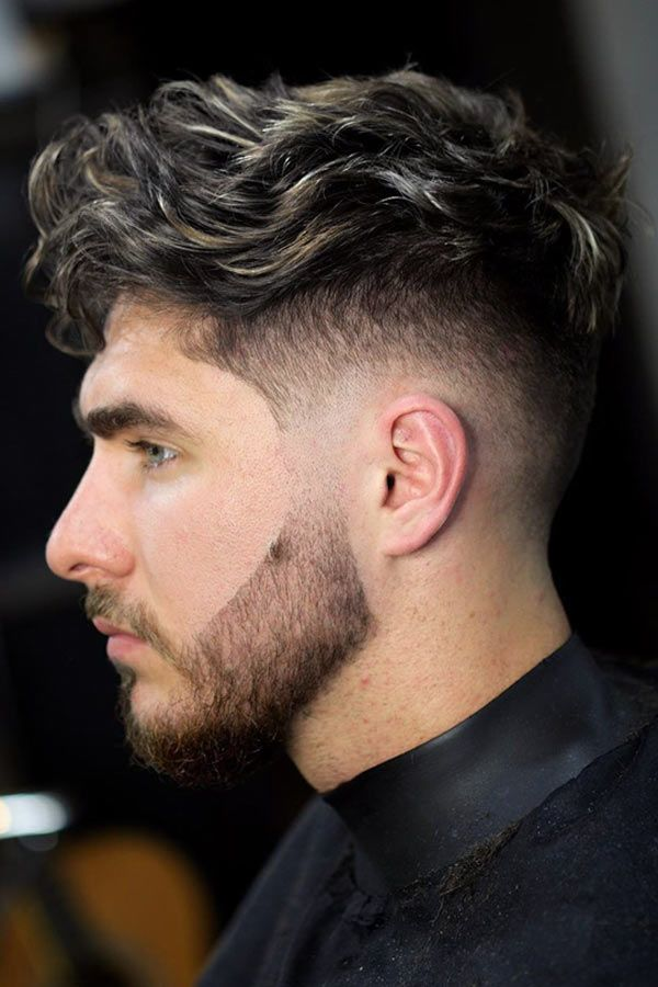 Wavy Highlighted Top Low Fade #fadehaircut