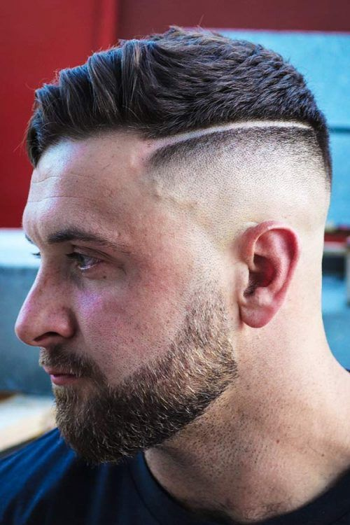 Hard Part Hairstyle And Fade Combo #fadehaircut