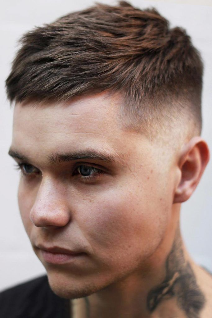 Combed Short Messy Hair #fadehaircut #fade #mensfade