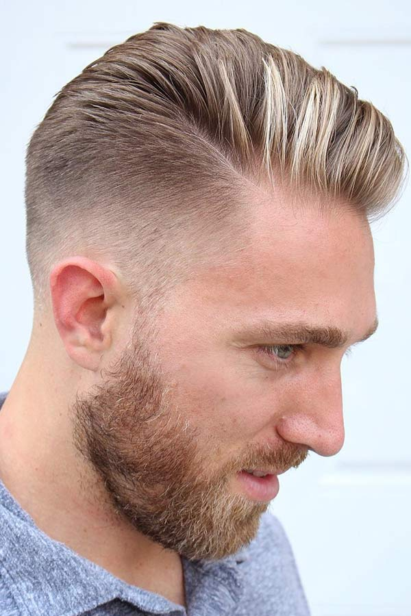 Side Part Hairstyle With A Fade Haircut #fadehaircut