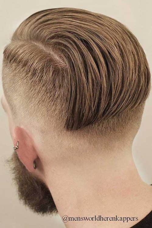 Slick Back Top With A Fade