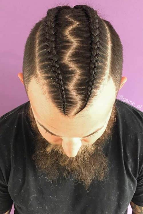 Double Dutch Braid #cornrows #doubledutchbraid #menslonghairstyles #manbraid
