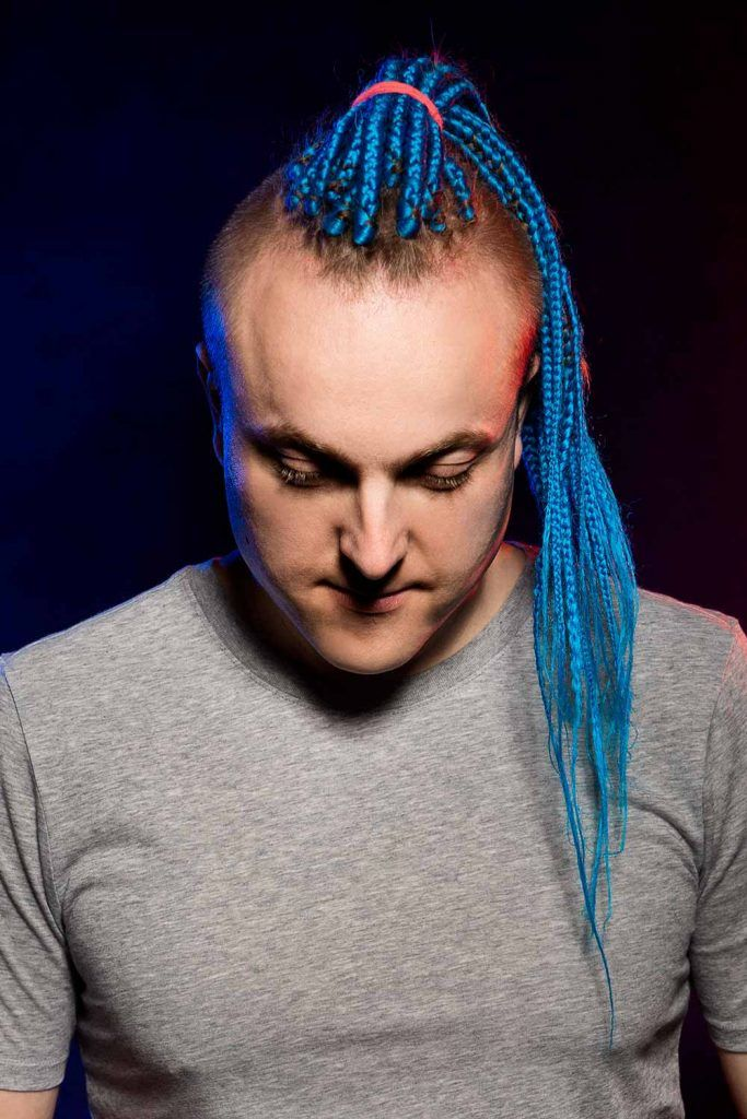 Long Colored Braids With Undercut #longhairstylesformen #menslonghairstyles #longhairmen #menslonghair