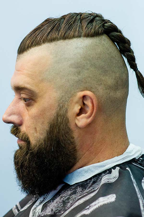 Undercut With Braided Top #longhairstylesformen #longhairmen #menslonghairstyles