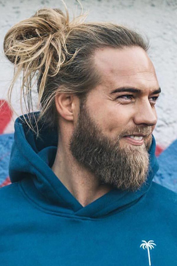 Long Hair And Beard #manbun #menslonghairstyles #menbun