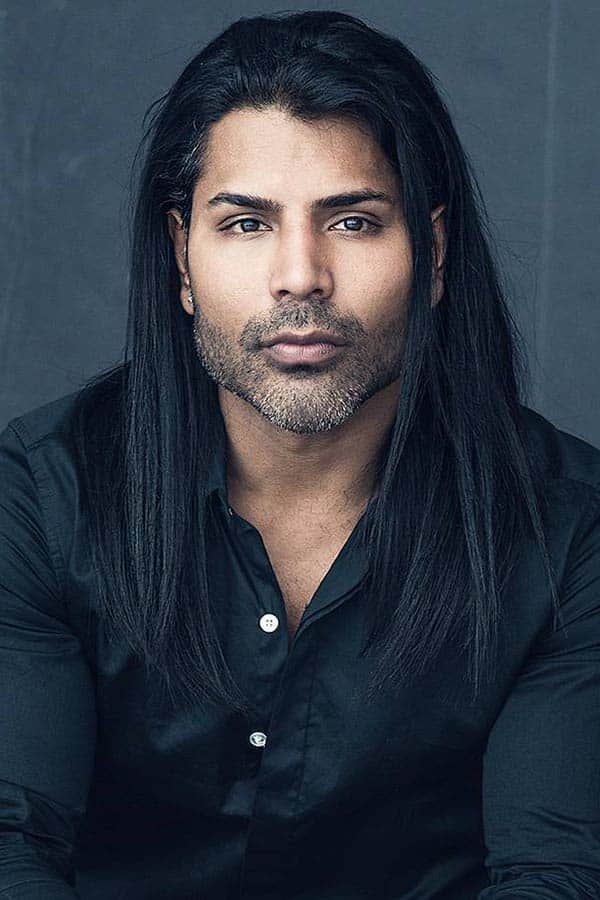 Mid-Part Straight Hair #straighthair #middlepart #menslonghairstyles