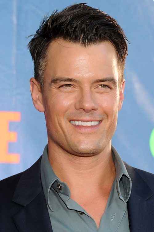 Josh Duhamel's Wind Swept Undercut With Widow's Peak #undercut #mensundercut