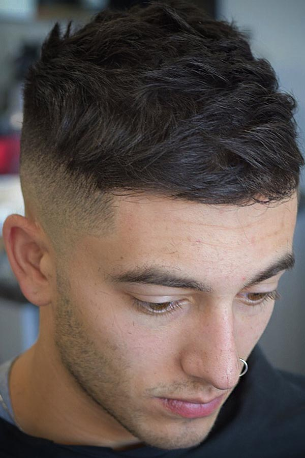 Short Wavy Top With High Fade #baldfade #skinfade #fadehaircut