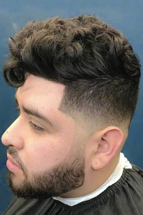 Low Bald Fade With Curly Top