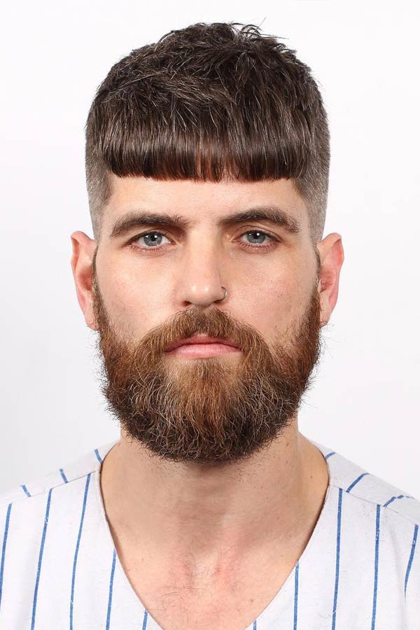 Caesar Haircut With Thick Beard #caesarhaircut #haircuts #menhaircuts