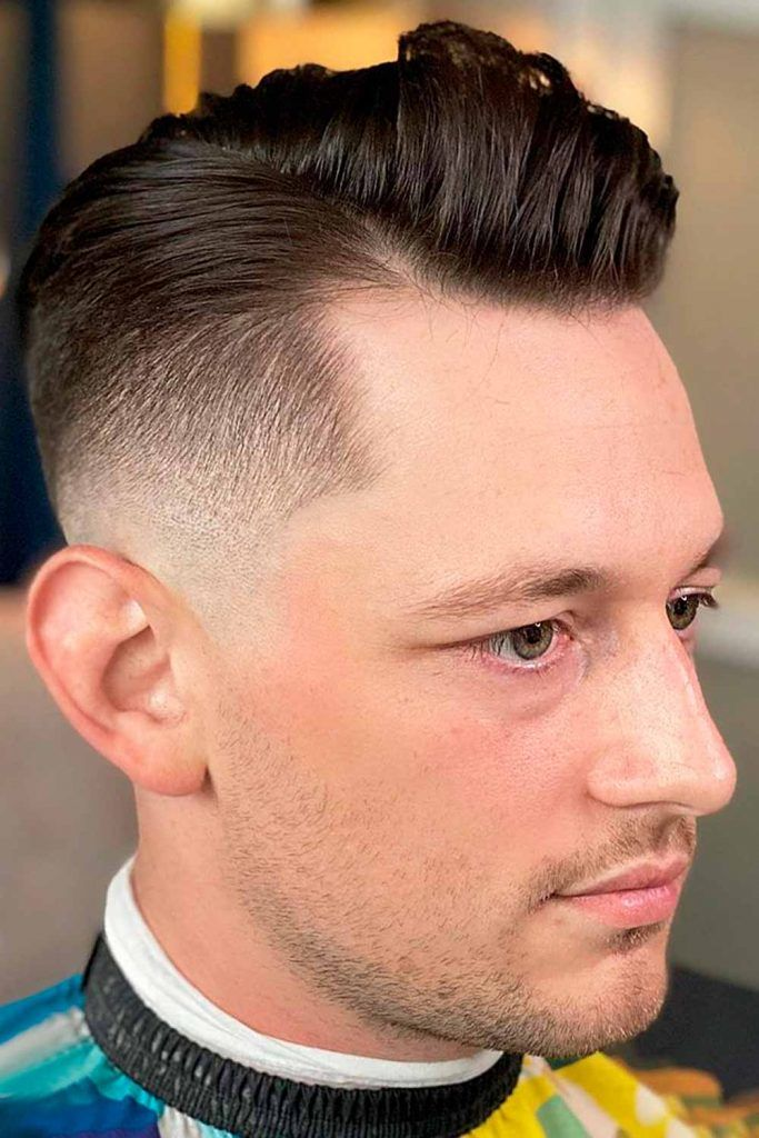 Textured Side Part Comb Over + Mid Fade #combover #comboverfade #combedhair