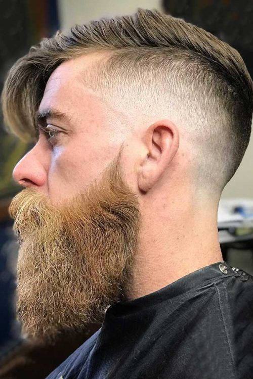 Long Combed Top And Beard #beard #combover #comboverfade #fadehaircut