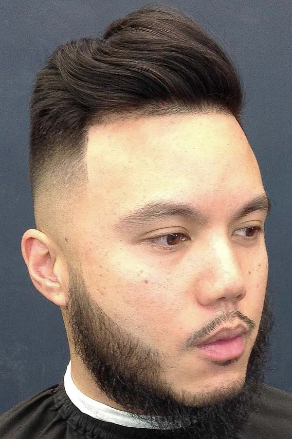 Comb Over With Shaved Faded Sides #combover #comboverfade