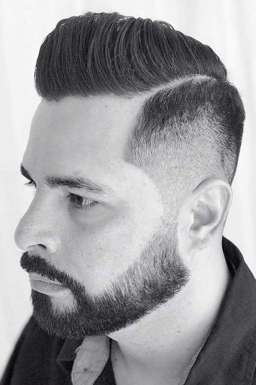 Combed Hair With Beard #combover #comboverhaircut