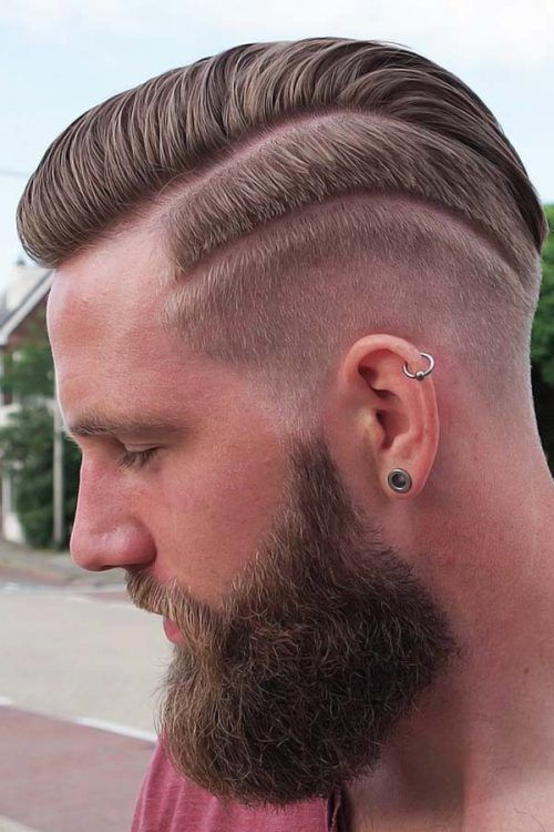 Comb Over Taper + Hair Design + Beard #combover
