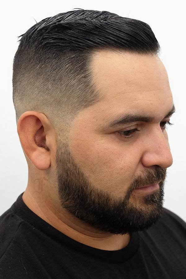 Slicked High And Tight Fade #shorthairmen #highandtight #highandtightfade
