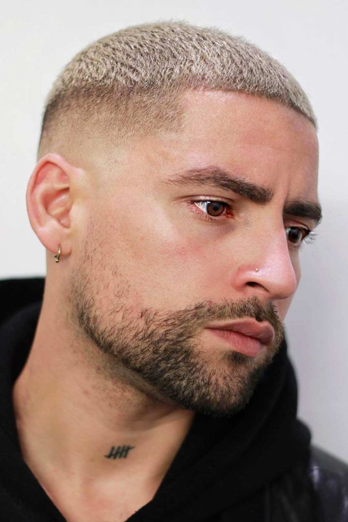 High Fade Blonde Top #highandtight #highandtighthaircut #shorthaircutsformen
