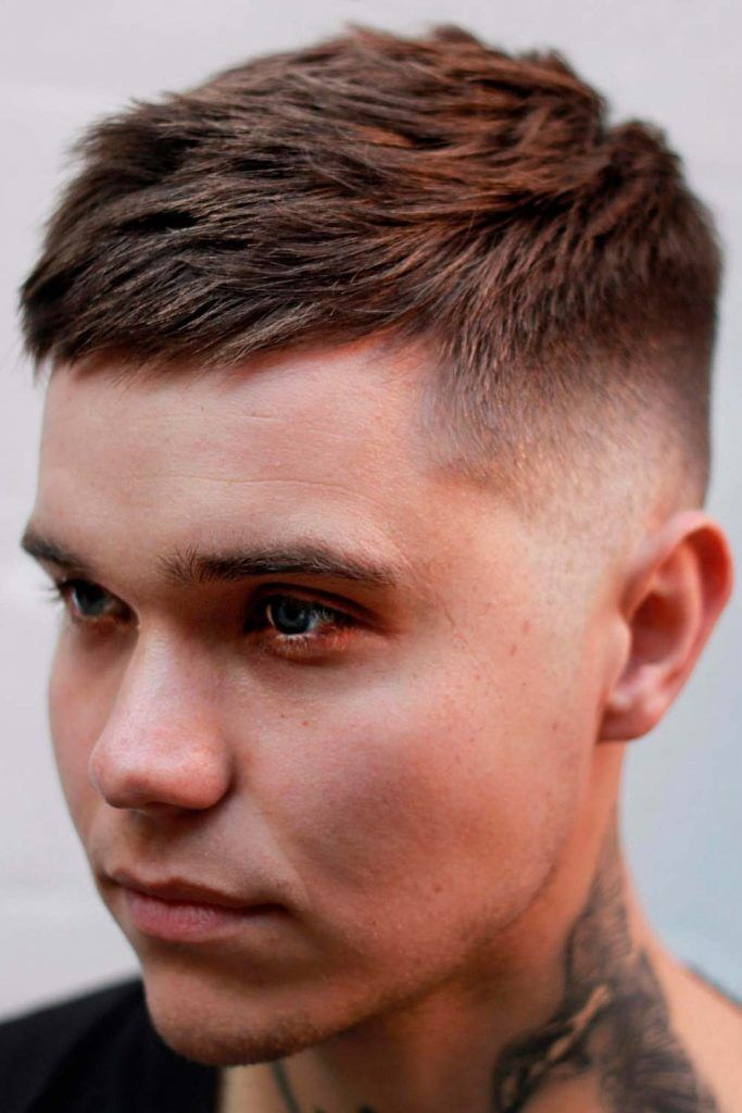 Brushed At The Side Texture #highandtight #highandtighthaircut #shorthaircutsformen