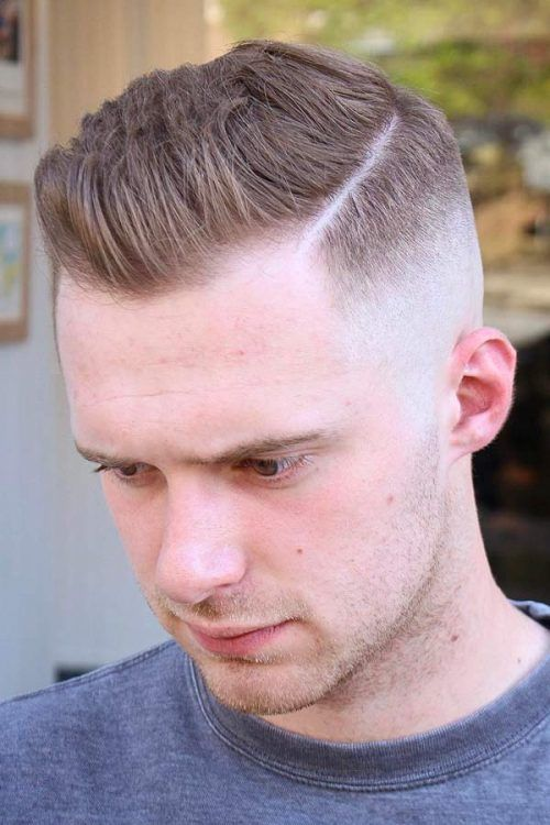 Side Part High And Tight Fade #shorthairmen #highandtight #highandtightfade