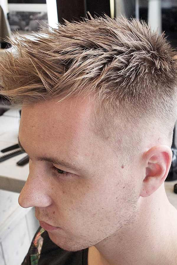 Spiky High And Tight Fade #shorthairmen #highandtight #highandtightfade
