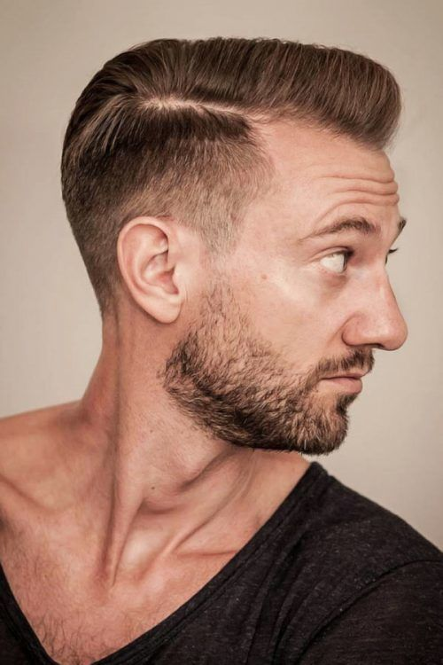 Side-Parted Pompadour With Low Fade #lowfade #fade