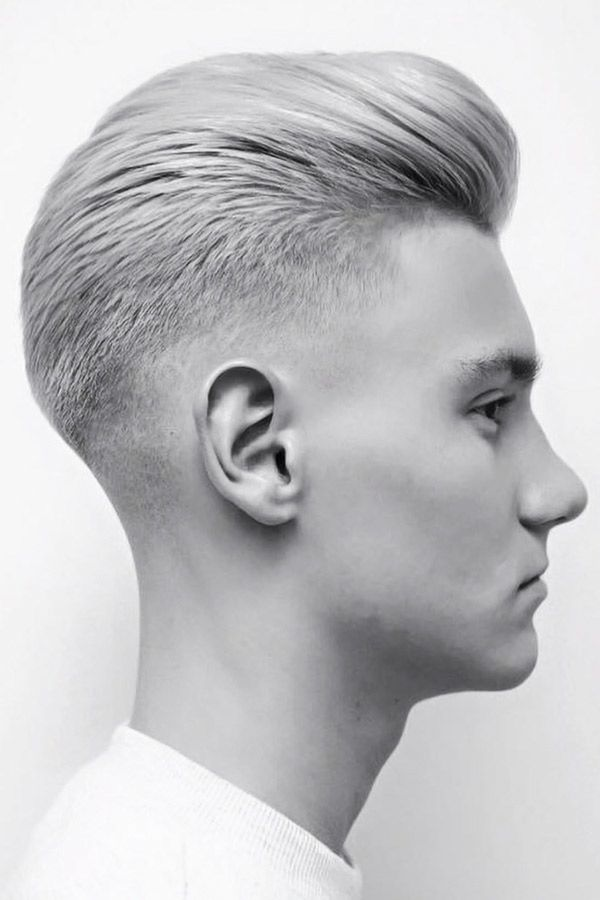 Slicked Back Low Fade #lowfadehaircut