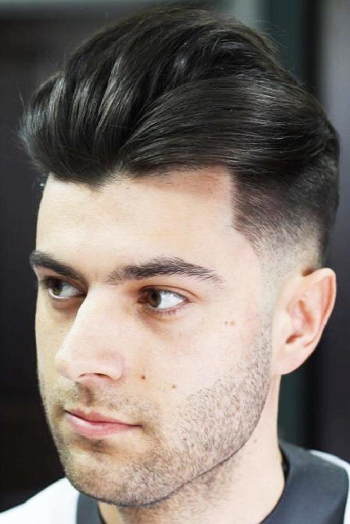 Voluminous Wavy Pompadour With Low Fade #lowfadehaircut