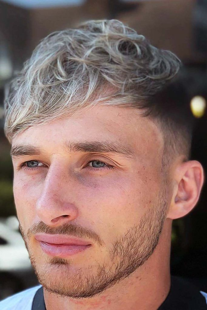 Low Fade With Wavy Side Fringe #lowfadehaircut