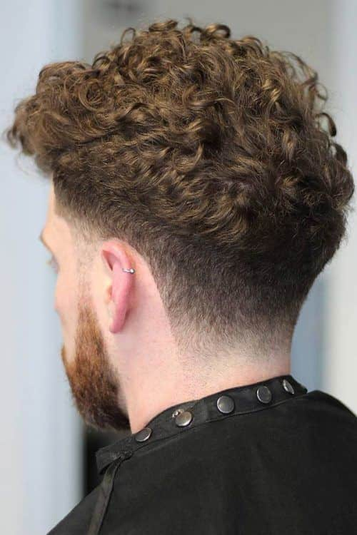 Tapered Curly Hair #shortcurlyhairstyles #hairstylesformen #shorthairmen #curlyhairbangs