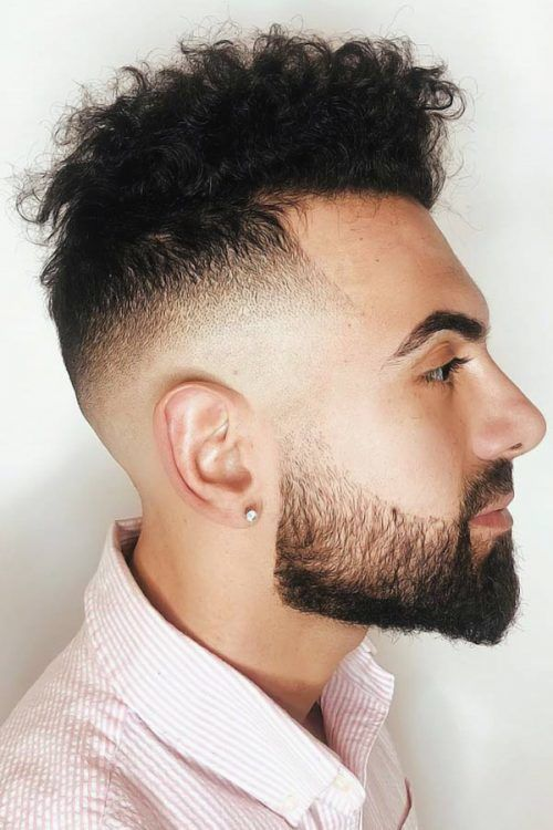 Undercut Fade With Textured Curls #shorthair #curlyhair