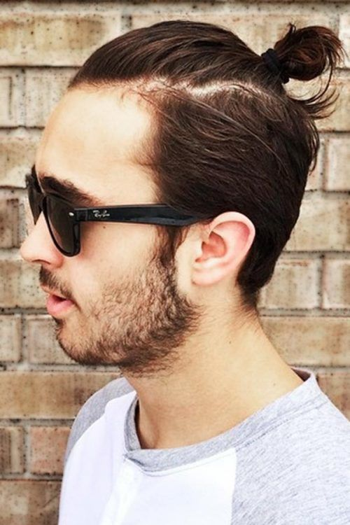 Top Knot With Slicked Back Sides #topknotmen #topknothairstyle