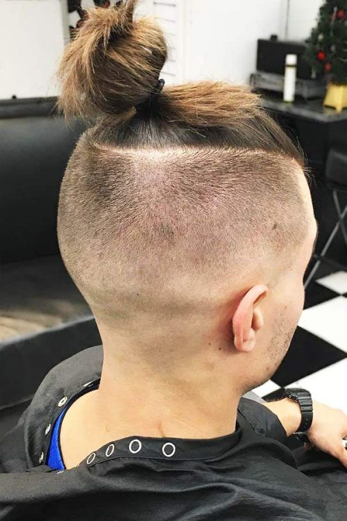 Knot With Undercut Tapered Sides #topknotmen #topknothairstyle