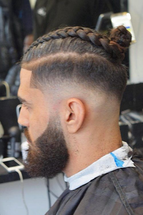 Braided Bun On Natural Hair #menslonghairstyles #longhairstylesformen #menwithlonghair #longhairmen