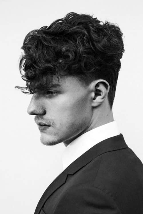 Modern Hipster Curly Top Haircut #curlytop #fadehaircut