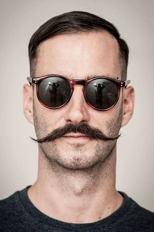 Short Haircut With French Moustache #hipsterhaircut