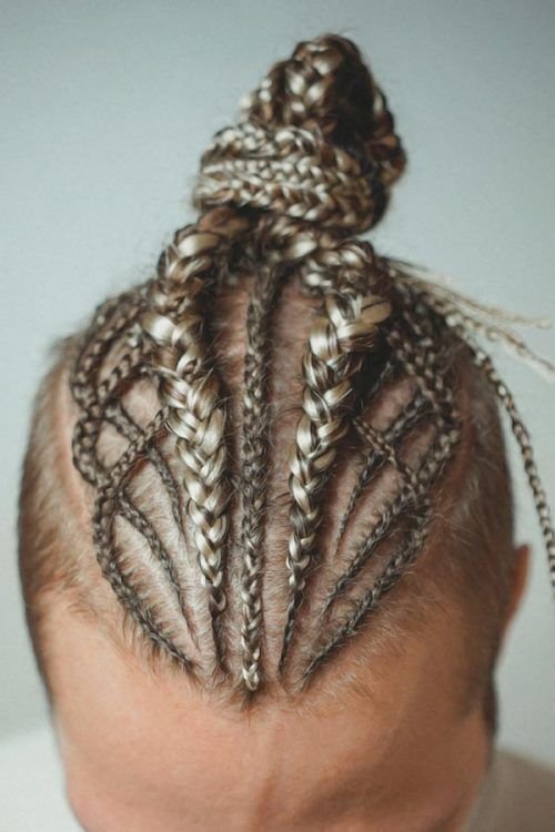 Braids For Men With Top Knot #braids #menbraids