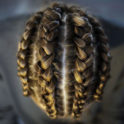 Four Dutch Braids #braids #menbraids
