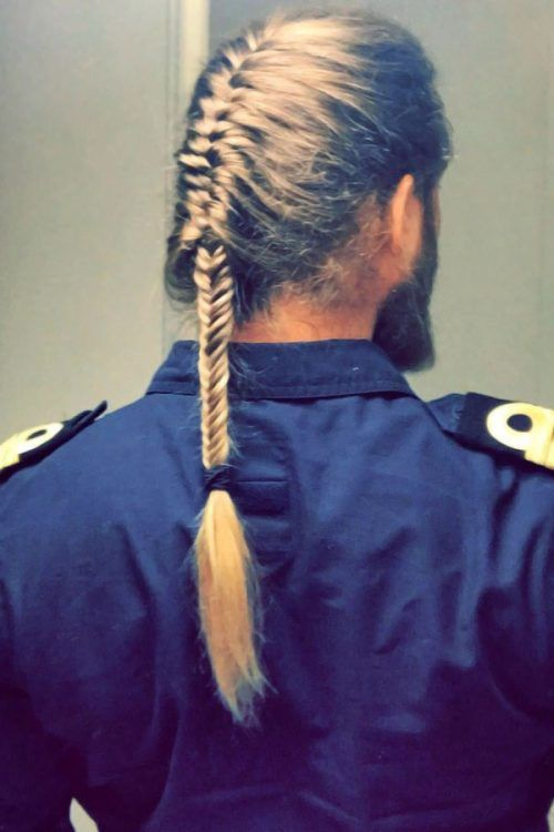Long Fishtail Braid #braids #menbraids