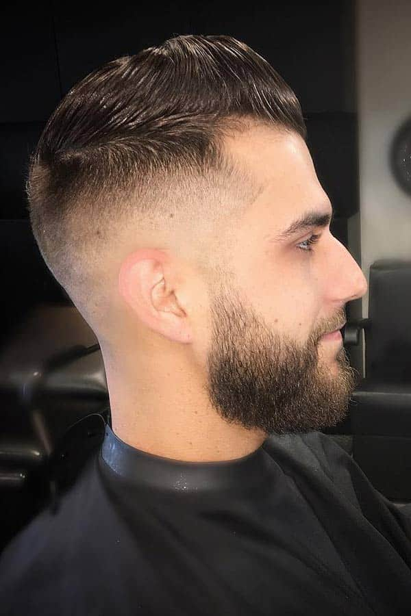 Bald Fade With Beard #midfade #fadehaircut #baldfade