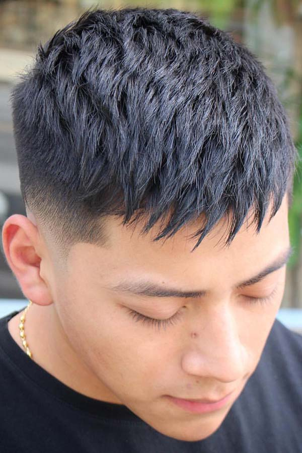 Spiked Textured Top #fade #fadehaircut #midfade