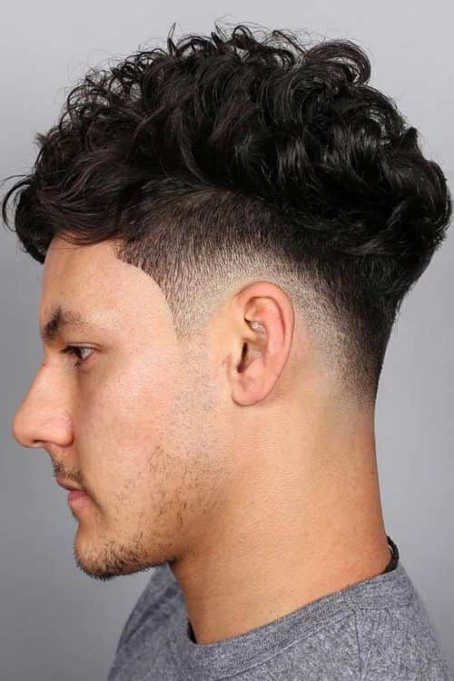 Curly Top Taper Fade #taper #taperfade #curlyhair