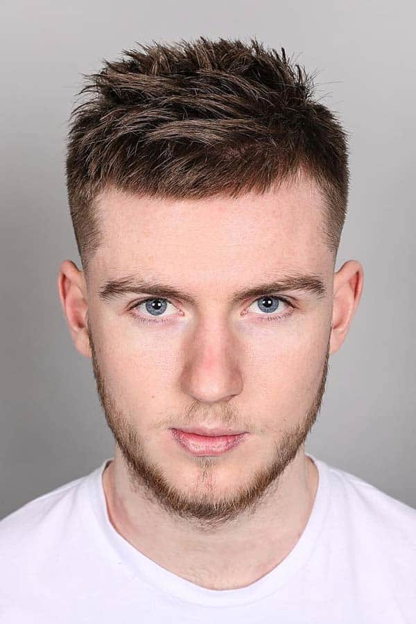 Taper Fade With A Spiky Hairstyle #taper #taperfade #spikytop
